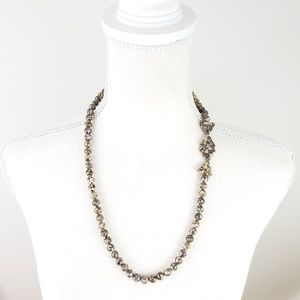 Vintage Leopard Skin Agate Beaded Necklace